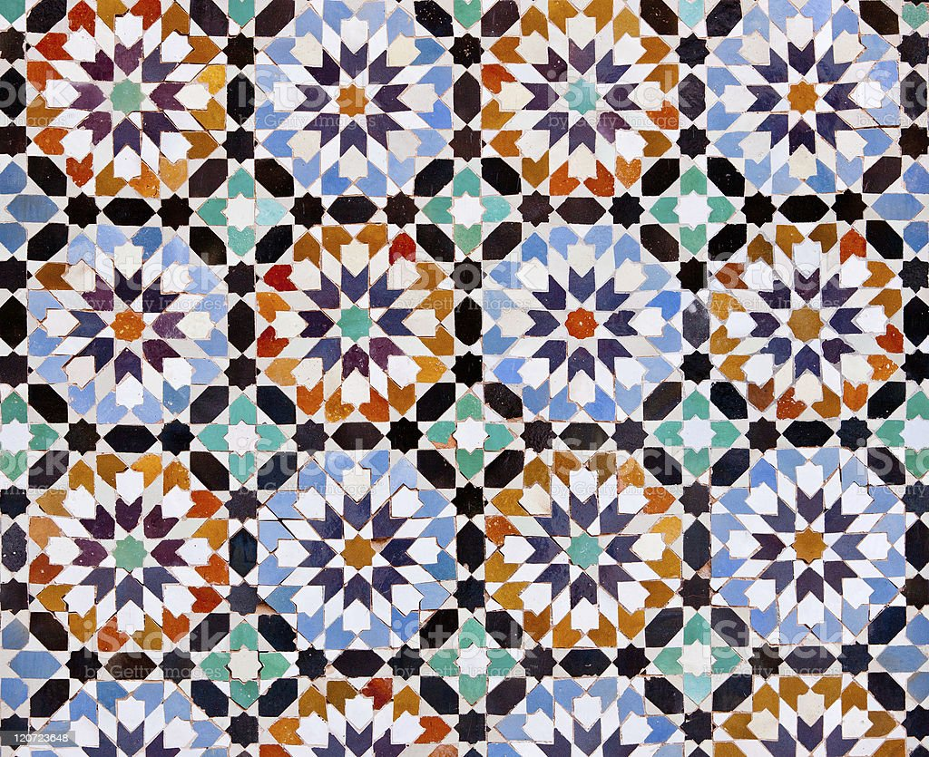 Moroccan Tiles in Marrakesh royalty-free stock photo