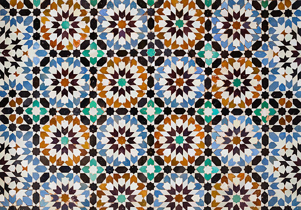 Moroccan tiles stock photo