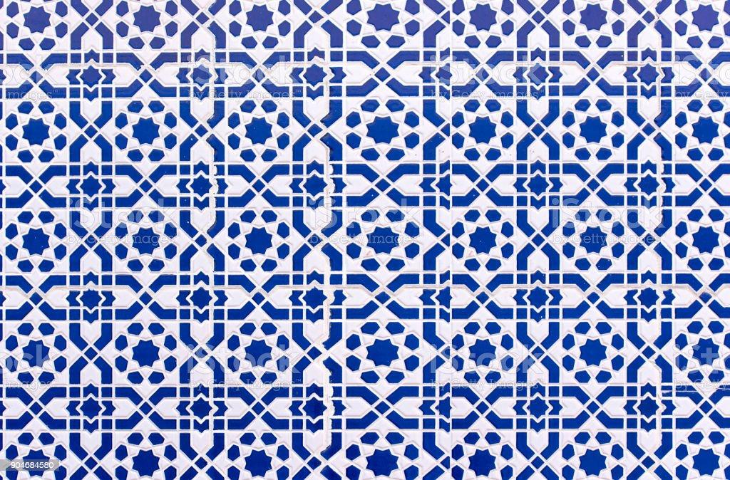 Marokkanische Fliesen mit traditionellen arabischen Mustern, Keramik Fliesen Muster als Hintergrundtextur – Foto