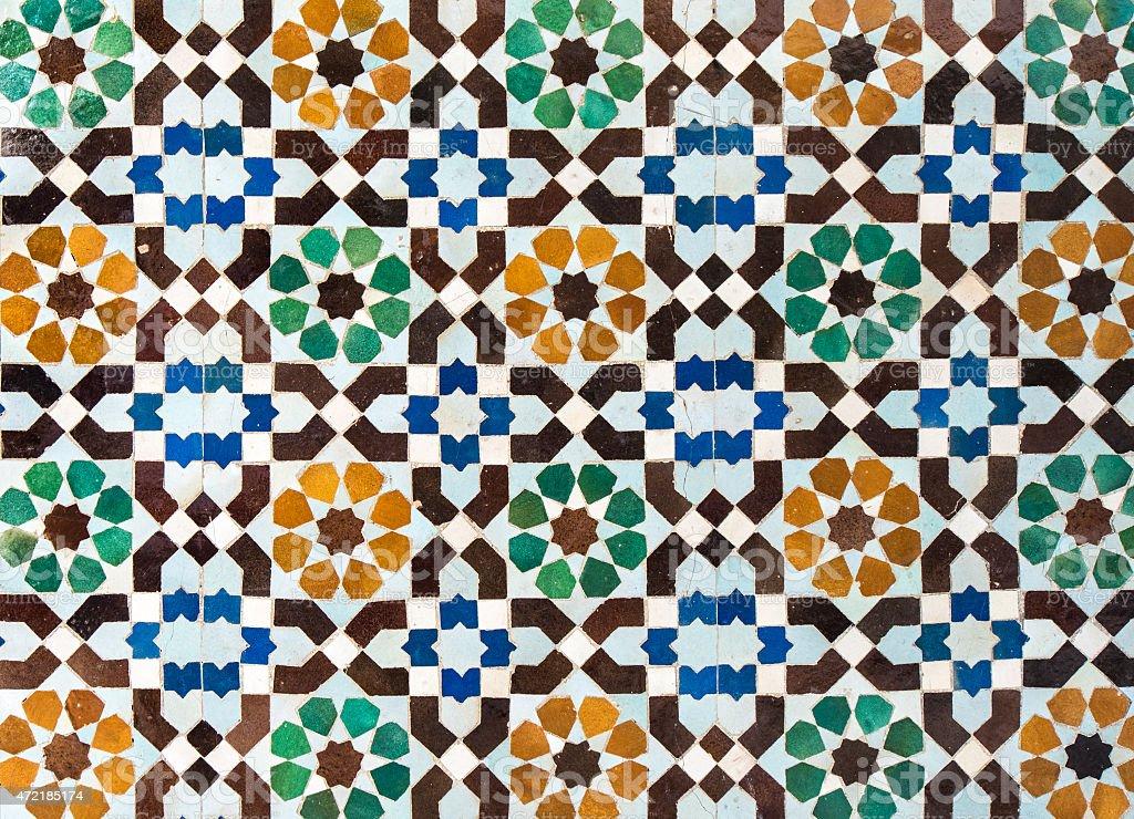 Sfondo vintage con piastrelle marocchine fotografie stock e