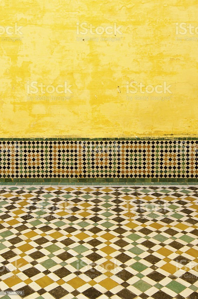 moroccan vintage tile background royalty-free stock photo
