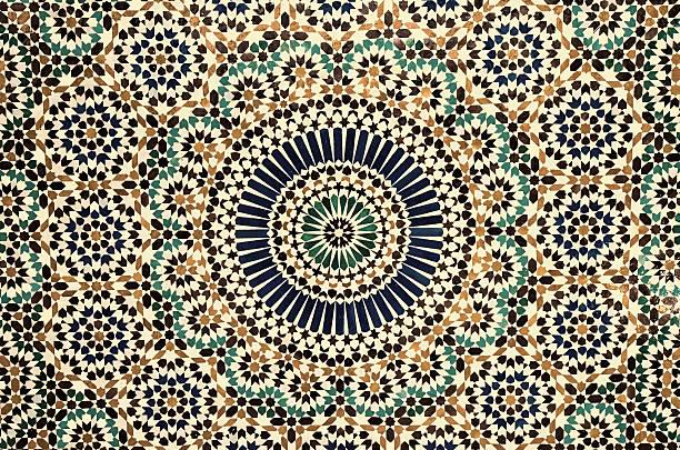 marokkanische vintage fliesen hintergrund  - arabeske stock-fotos und bilder