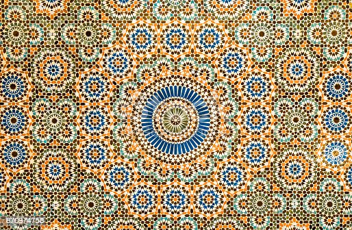 istock moroccan vintage tile background 670974758