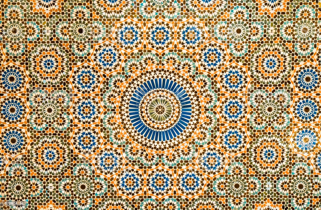 Marokkanische vintage Fliesen Hintergrund  – Foto