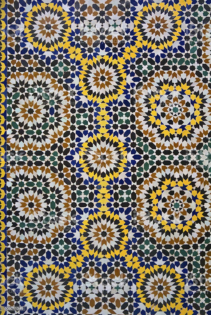 moroccan zellige tile pattern stock photo more pictures of africa istock. Black Bedroom Furniture Sets. Home Design Ideas