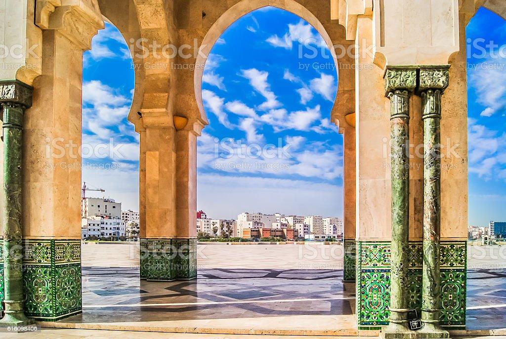 Morocco Casablanca scenic view. stock photo