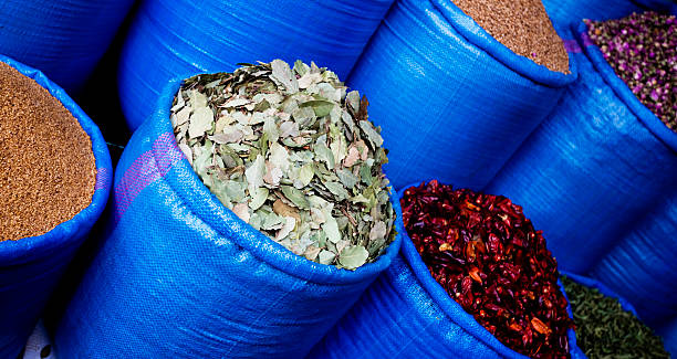 Morocco herbs stock photo