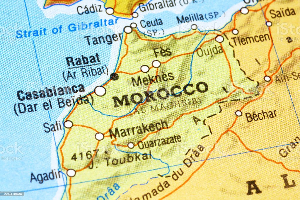 Morocco In A Map Stock Photo More Pictures Of Africa IStock - Map of morocco