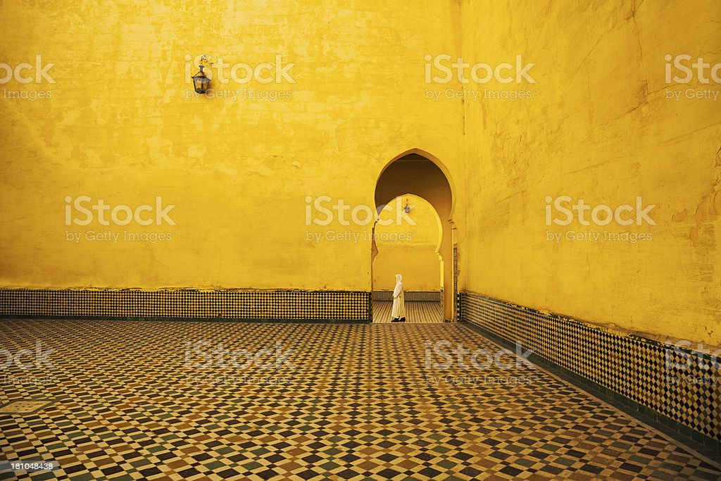 Morocco in mosque stock photo