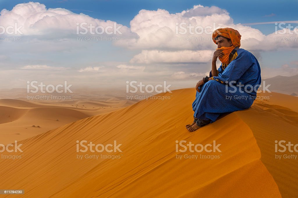 Morocco man stock photo