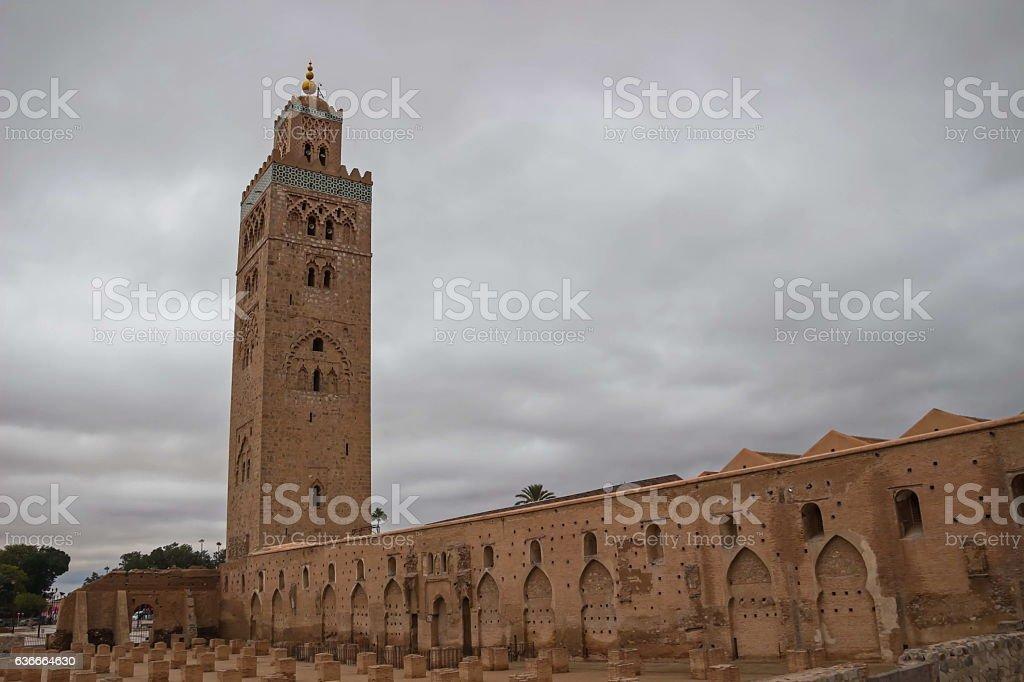 Morocco Marrakesh Koutoubia Mosque and Minaret stock photo