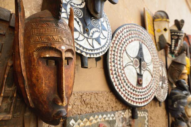 marokko - afrikanische masken stock-fotos und bilder