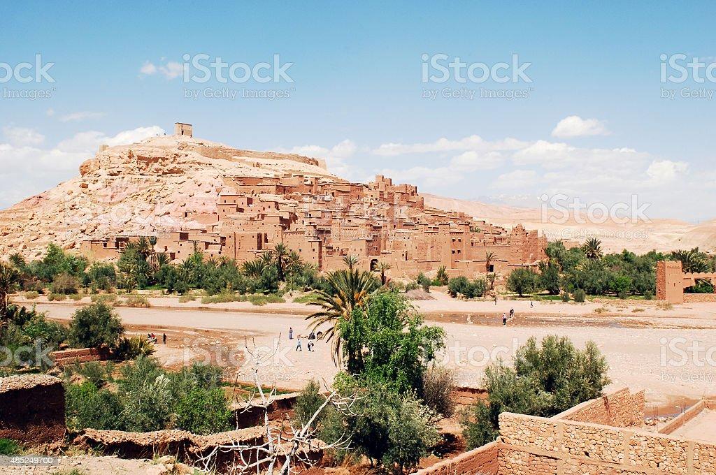 Morocco, the kasbah of Ait Benhaddou stock photo