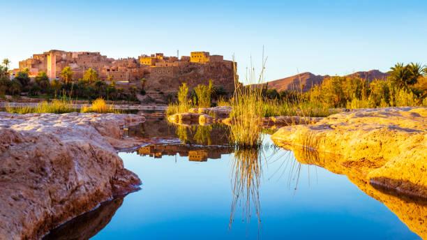 Morocco Travel Hotspot Series: Sahara Desert Casbah stock photo