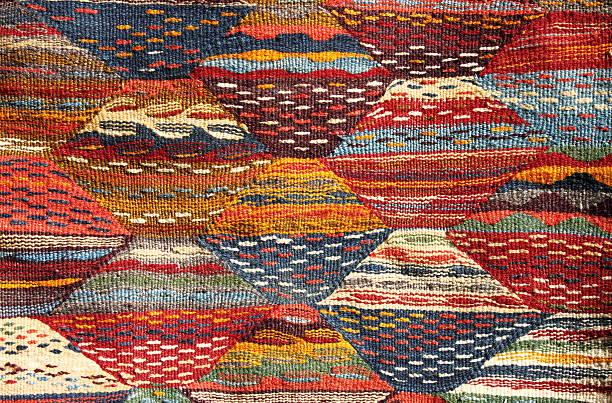 Moroccoan alfombra - foto de stock