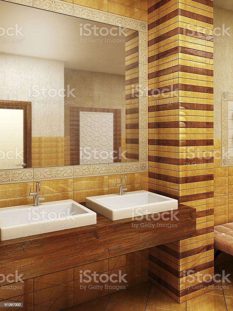 Morocco's style bathroom interioor royalty-free stock photo