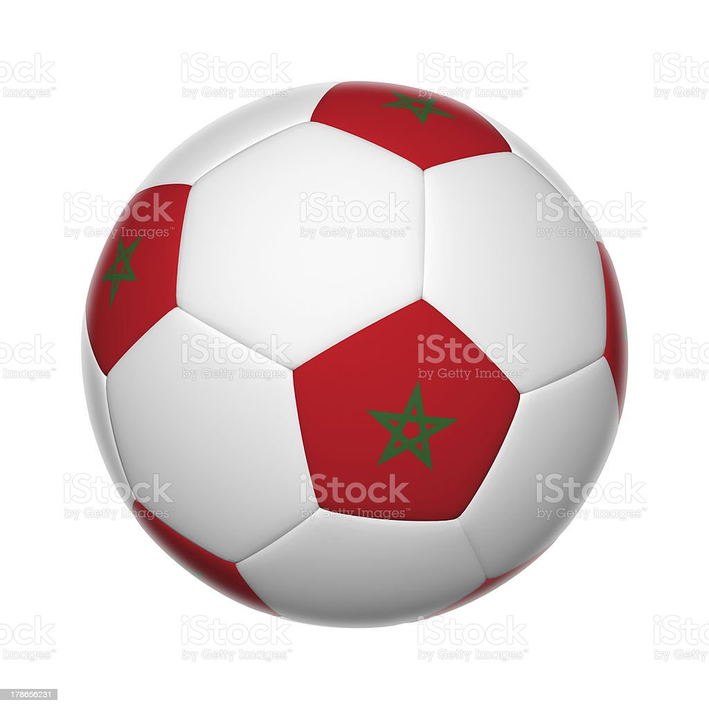 Moroco soccer ball stock photo