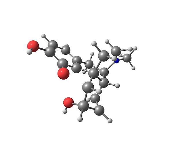 Morfina Cząsteczka na białym tle – zdjęcie
