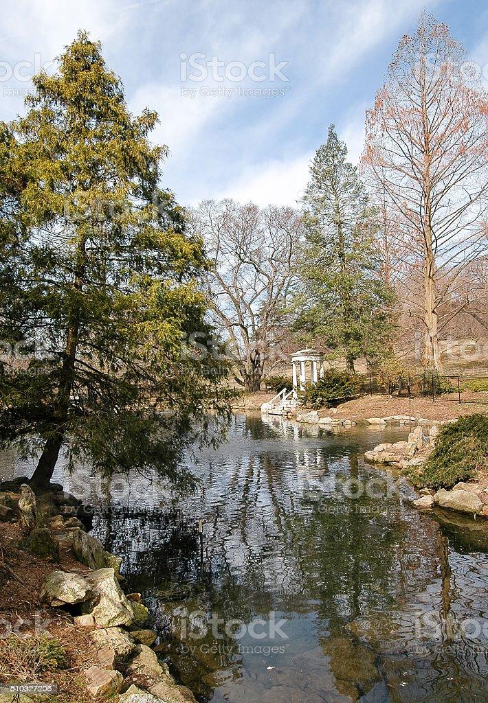 Morris Arboretum stock photo