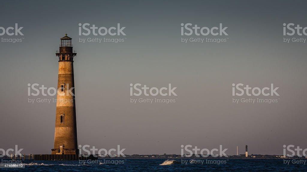 Morris Island Light stock photo