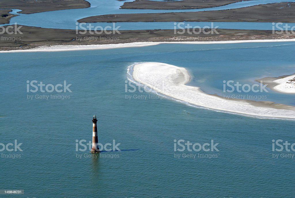 Morris island lighthouse stock photo