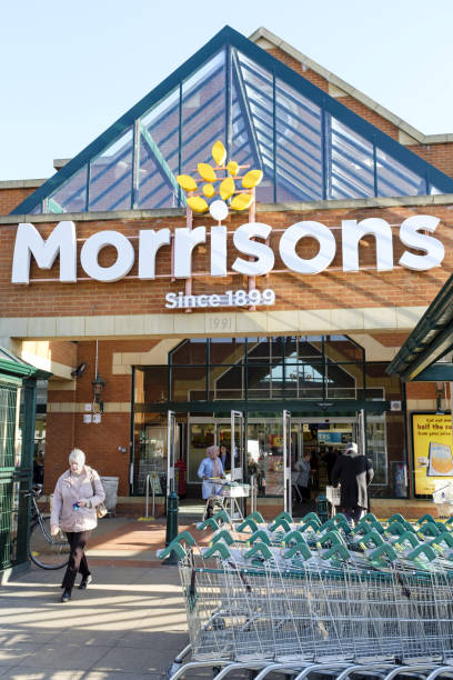 Morrisons supermarket London stock photo