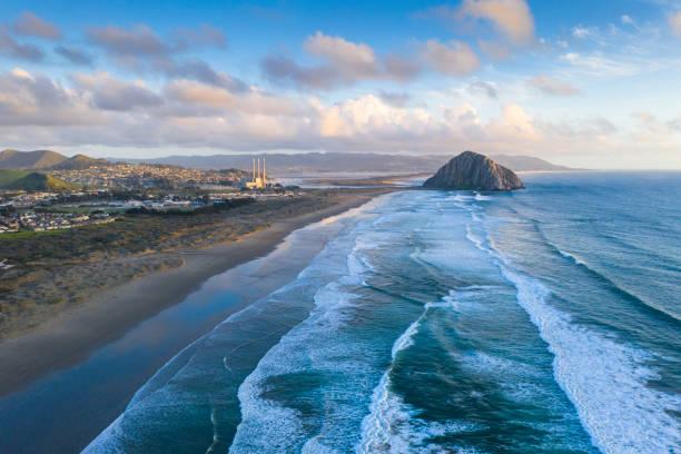 Morro Bay, Morro Rock, California, USA stock photo