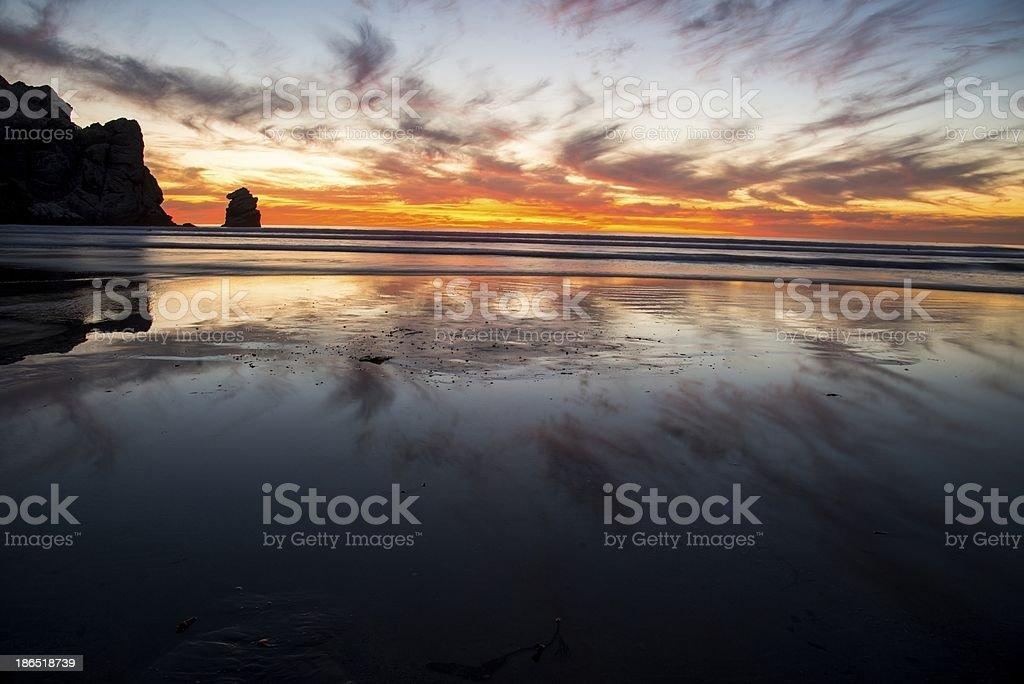 morro Bay Sunset royalty-free stock photo