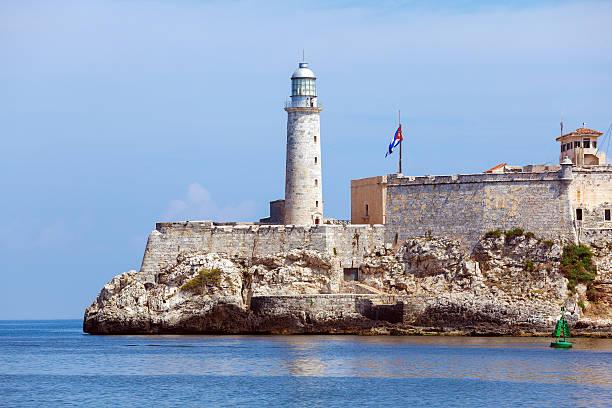 Morro Castle, fortress guarding the entrance to Havana bay, Cuba stock photo