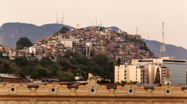 Morro da Providência Favela in Rio De Janeiro, Brasilien – Foto