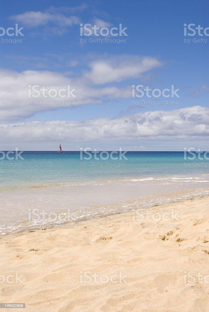 Morro Jable Beach (Fuerteventura, Spain) stock photo
