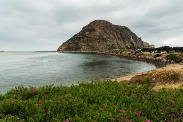 Morro Rock at Morro Bay State Park, California Coastline. stock photo