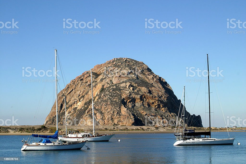 Morro Rock royalty-free stock photo