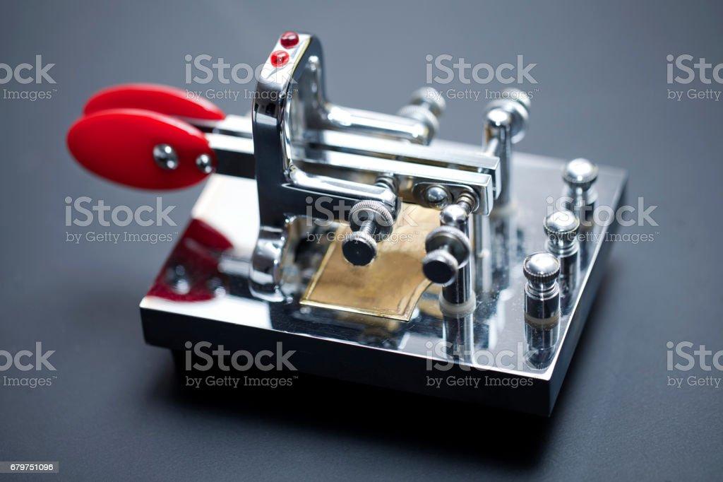 Morse code communication stock photo