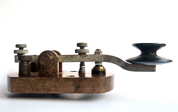 WW1 Morse Code Key / Tapper - Gap View stock photo