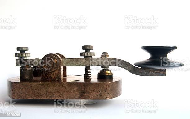 Ww1 Morse Code Key Tapper Gap View Stock Photo - Download Image Now