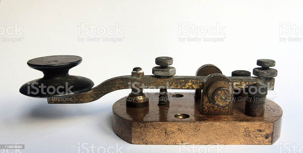 WW1 Morse Code Key / Tapper stock photo