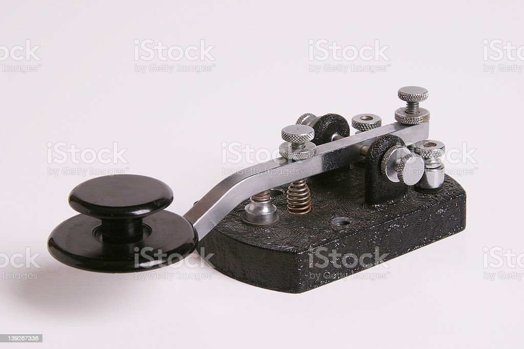 Morse Code Straight Key stock photo