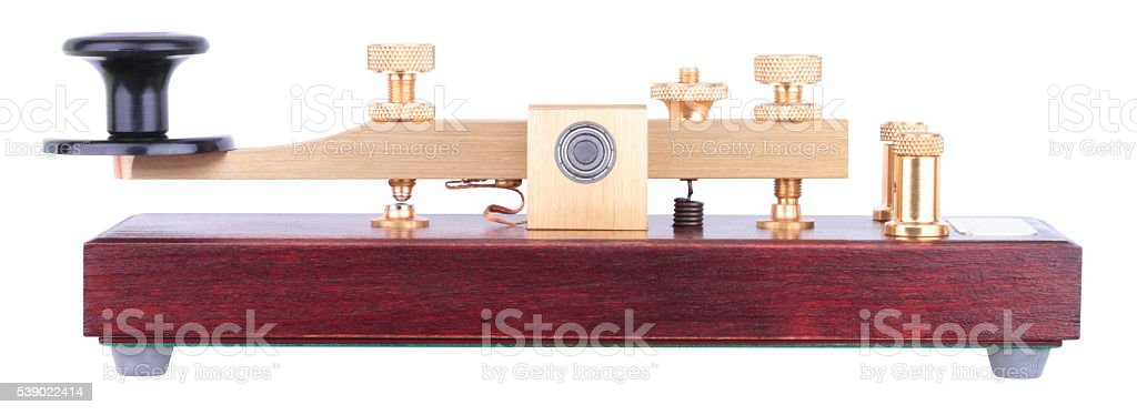 Morse Key Isolated stock photo