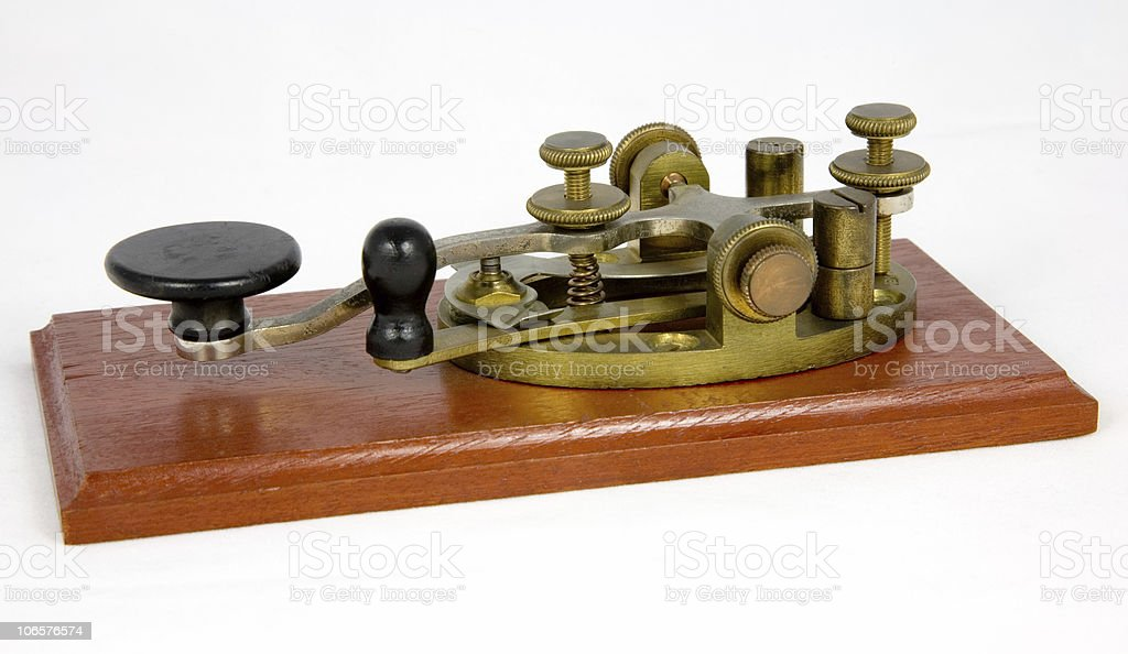 Morse Key royalty-free stock photo