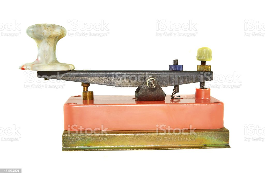 Morse Key stock photo