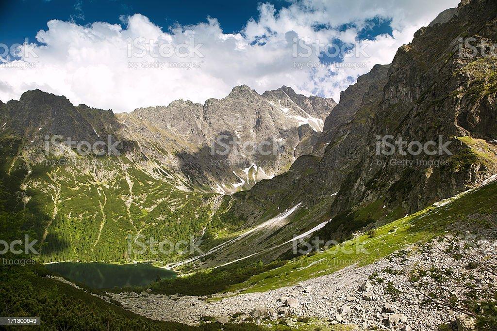 'Morskie Oko' Lake in Tatra Mountains stock photo