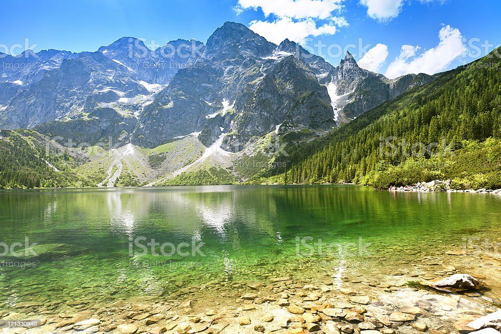 'Morskie Oko' Lake in Tatra Mountains stock photo