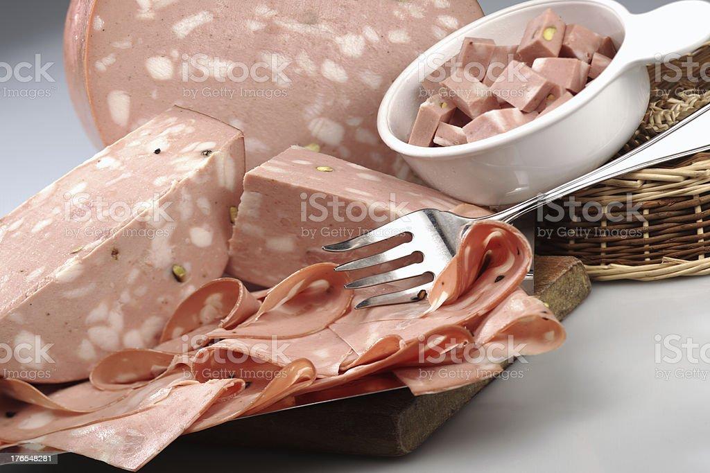 mortadella stock photo