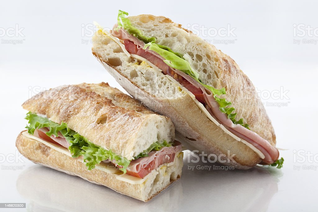 Mortadella sandwich royalty-free stock photo