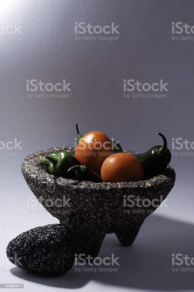 Mortar and Pestle (Molcajete) royalty-free stock photo