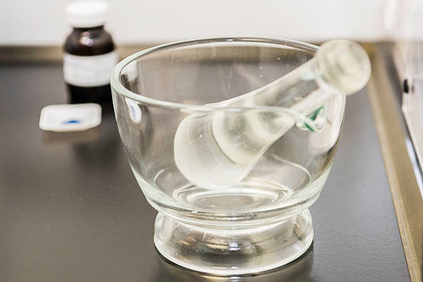 mortar and pestle - pharmaceutical compounding stock photos and pictures