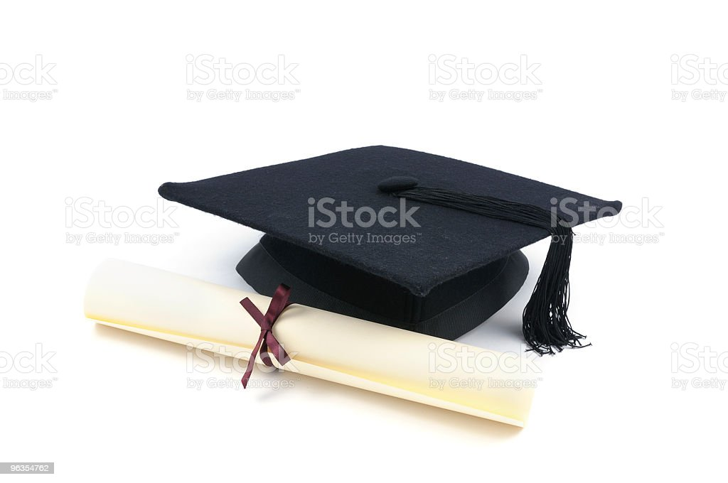 Mortar Board & Certificate royalty-free stock photo