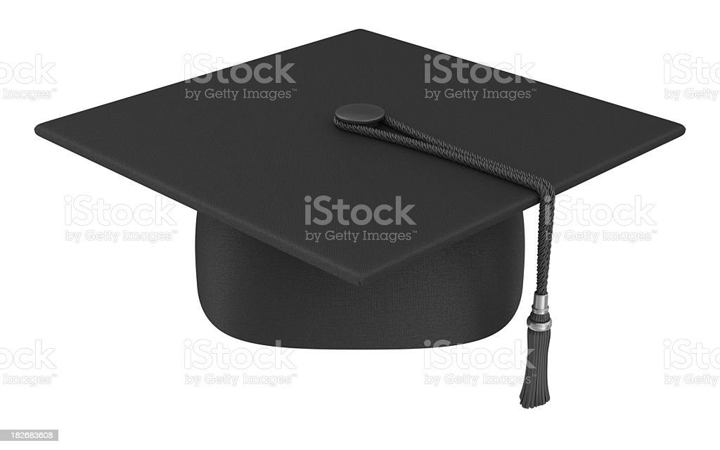 mortar board stock photo