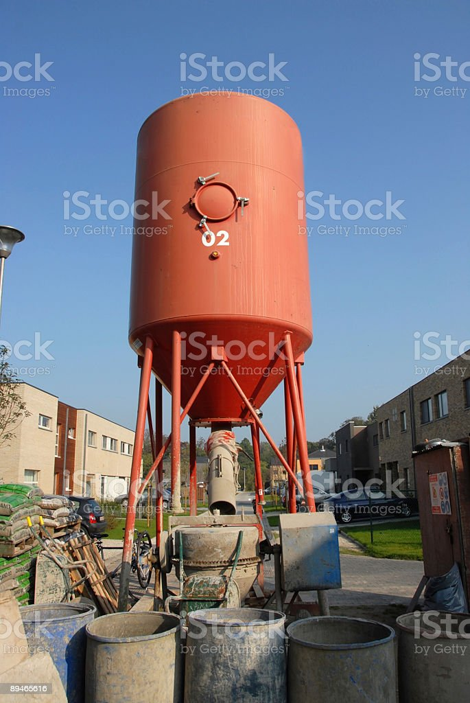 Mortar elevator on a construction site royalty-free stock photo